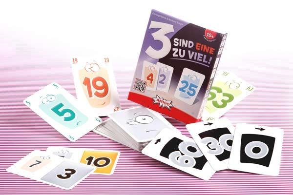 Kartenspiel 3 sind Eine zu viel - Foto von Amigo Spiele
