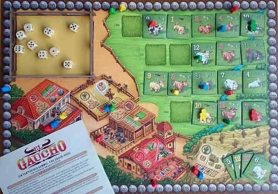 Prototyp El Gaucho - Spielaufbau - Foto von Argentum Verlag