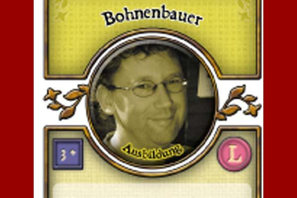 Agricola-Spielkarte Bohnenbauer - Foto von Lookout Spiele