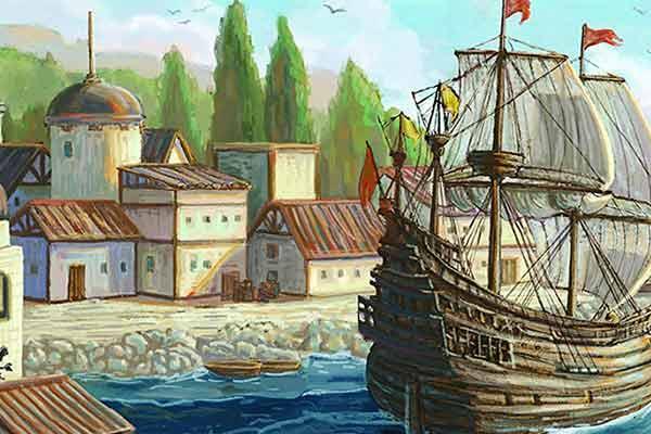 Das Zeitalter der Seefahrer - Ausschnitt - Foto von Kobold Spieleverlag