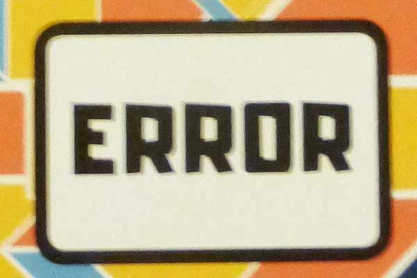 Error - Ausschnitt - Foto von Jörn Frenzel