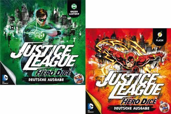 Justice League - Hero Dice - Flash und Green Lantern - Foto Heidelberger Spieleverlag