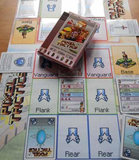Spielaufbau Pixel Tactics - Foto Jürgen Strobel