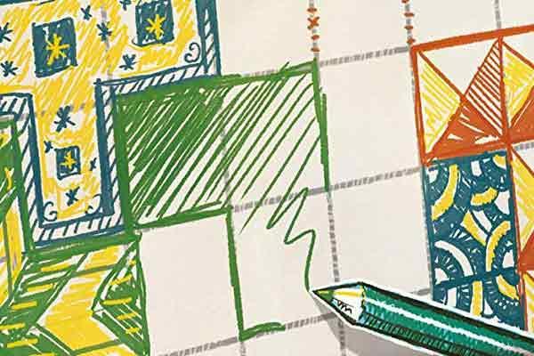 Patchwork Doodle - Ausschnitt - Foto von Lookout Spiele