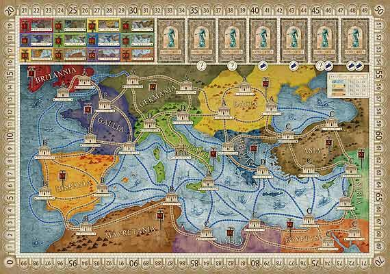 Spielplan von Concordia - Foto von PD Verlag