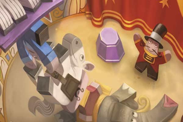 Meeple Circus - Ausschnitt - Foto von Pegasus Spiele