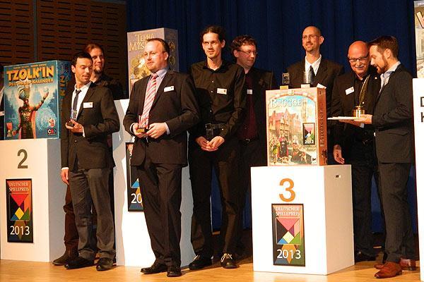 Fotoimpression von der Spiel '13: Der Deutsche Spielepreis 2013 - Die Top-Platzierten