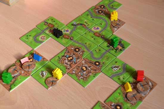 Carcassonne Goldrausch - Spielsituation - Foto von Axel Bungart