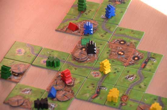 Carcassonne-Fan-Treffen 2014: Goldrausch Spielszene