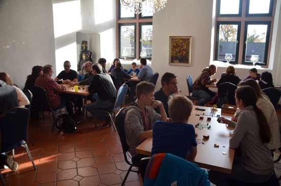 Carcassonne-Fan-Treffen 2014: viele Spieler