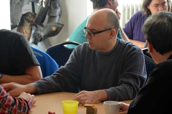 Carcassonne-Fan-Treffen 2014: Carcassonne-Meister Volker Hehrs