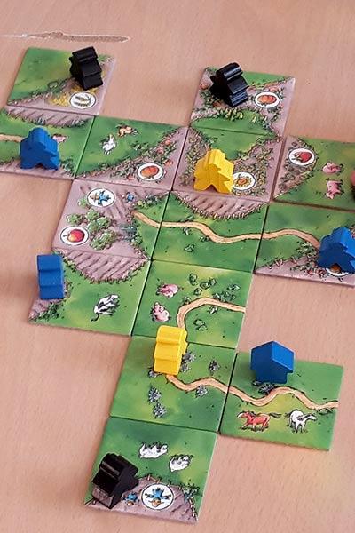 Carcassonne - Über Stock und Stein Spielaufbau