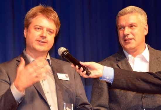 Verleger Peter Dörsam und Spieleautor Mac Gerdts werden mit Concordia zweiter