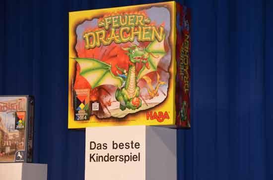 Das Kinderspiel Feuerdrachen gewinnt den Deutschen Kinderspielepreis 2014