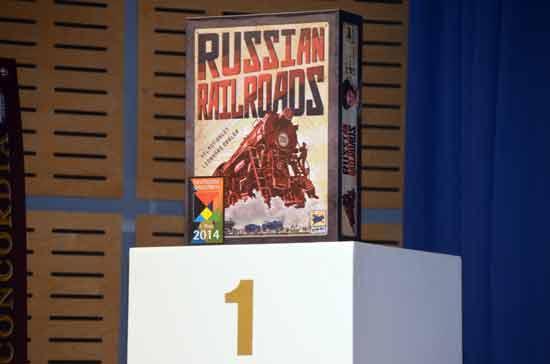 Deutscher Spielepreis 2014 - Siegerspiel Russian Railroads