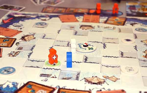 Brettspiel Race To The North Pole - Foto von Axel Bungart