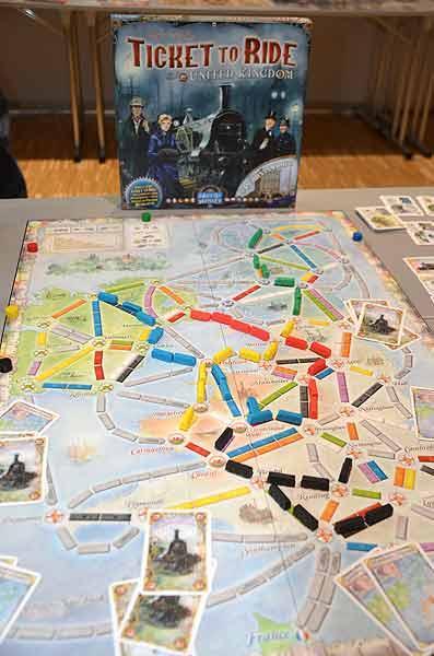 Foto von der Spiel '15: Zug um Zug United Kingdom - Spielaufbau