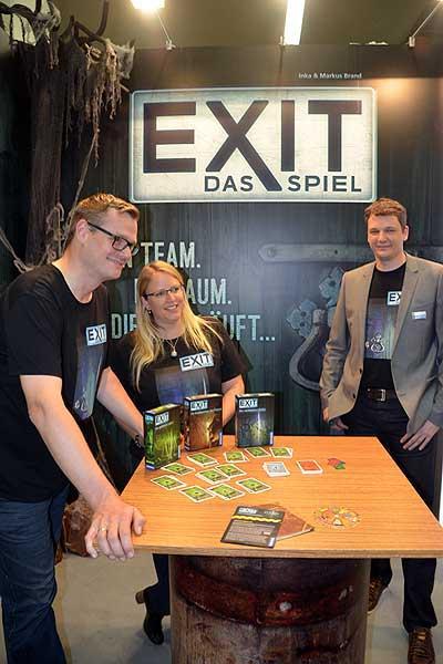 Foto von der Spiel '16: Exit - Das Spiel: Markus Brand, Inka Brand, Ralf Querfuth