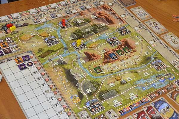 Foto von der Spiel '16: Great Western Trail Spielplan