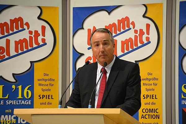 Foto von der Spiel '16: Grußwort Pressekonferenz