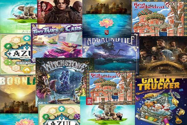 Collage aus Spielecovern
