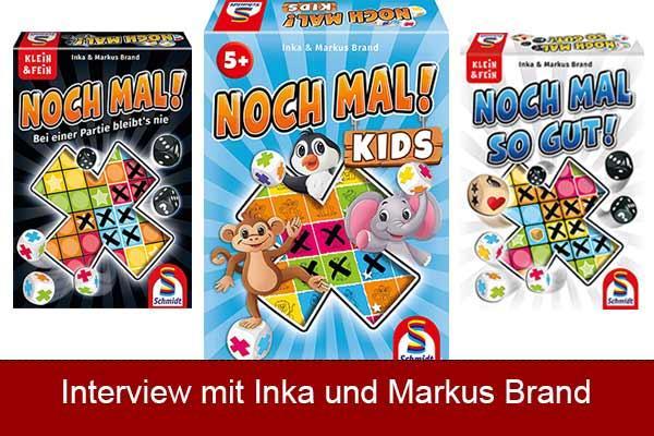 Inka und Markus Brand über Noch mal Kids - Noch-mal-Spielefamilie - Fotos von Schmidt Spiele