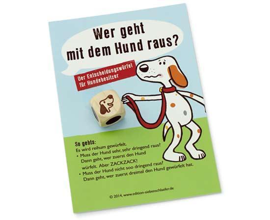 Kinderspiel Wer geht mit dem Hund raus - Foto Edition Siebenschläfer