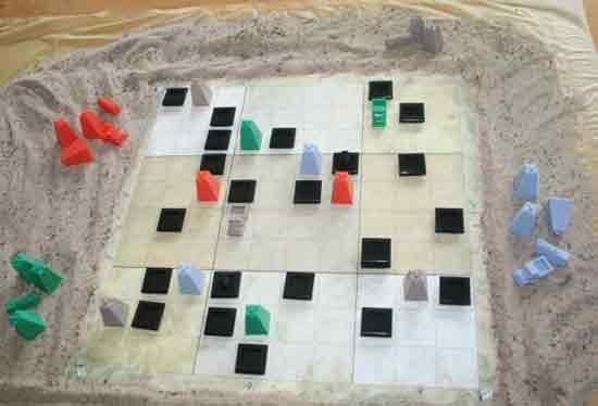 Schwarzes Gold - Spielaufbau - Foto von Mücke Spiele