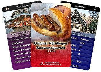 Original Nürnberger Bratwurstquartett von Edition Printis