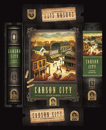 Carson City - Schachtelgrafik der limitierten Auflage von QWG Games