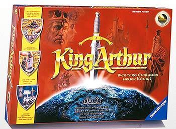Das Schachtelcover von King Arthur wirkt wie ein Filmplakat von Ravensburger