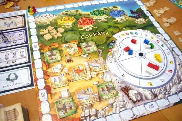 Die Paläste von Carrara - Neuheit auf der Spiel 12 in Essen von Axel Bungart