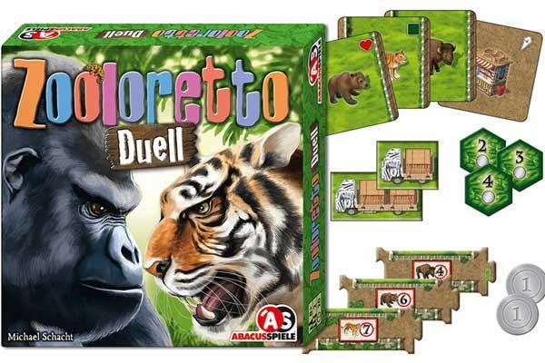 Zwei-Personen-Spiel Zooloretto Duell - Foto von Abacusspiele