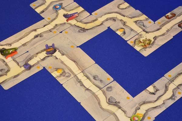 Spielaufbau Saboteur Das Duell - Foto von Axel Bungart