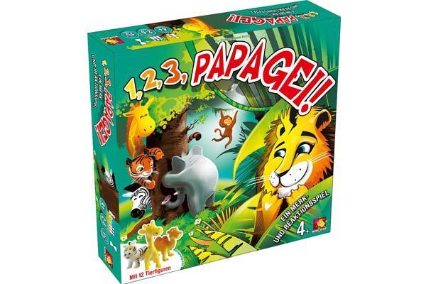 Kinderspiel 1, 2, 3, Papagei - Foto von Asmodee
