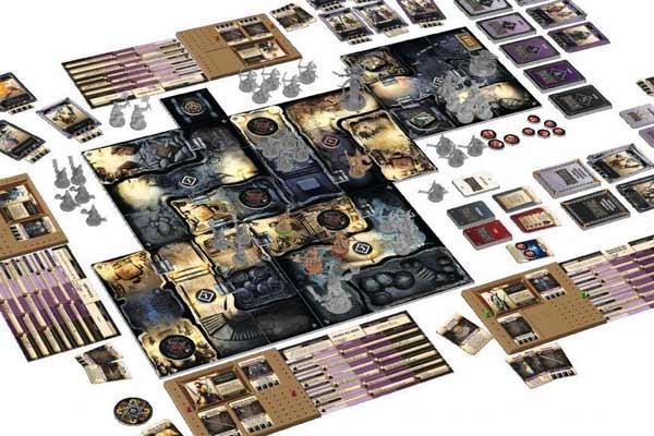Massive Darkness Spielaufbau - Foto von Asmodee