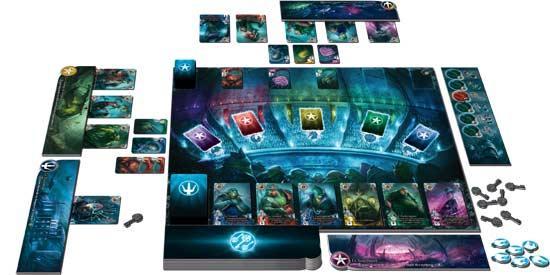Spielaufbau Abyss - Foto von Bombyx