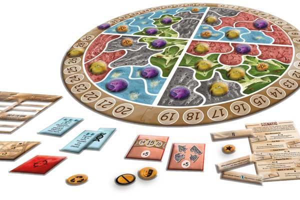 Spielmaterial Microworld - Foto von Cranio Creations/Pegasus Spiele