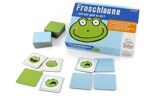 Kinderspiel Froschlaune - Foto von Edition Siebenschläfer
