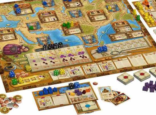 Auf den Spuren von Marco Polo - Spielaufbau - Foto von Hans im Glück