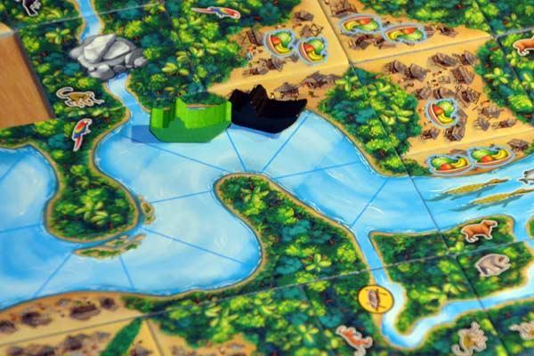 Carcassonne Amazonas - Spielsituation - Foto von Axel Bungart
