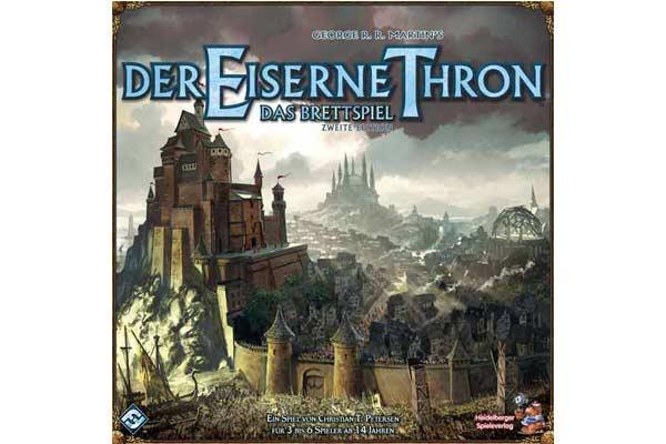 Schachtelabbildung der zweiten deutschen Auflage des Brettspiels Der Eiserne Thron - Foto von Heidelberger Spieleverlag