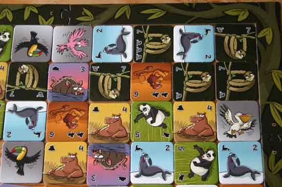 Familienspiel Faulpelz - Plättchen sammeln - Foto von Reich der Spiele