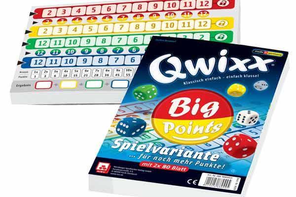 Qwixx - Big Points - Foto von Nürnberger Spieleverlag