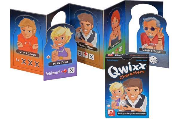 Kartenspiel Qwixx - Characters - Foto von NSV