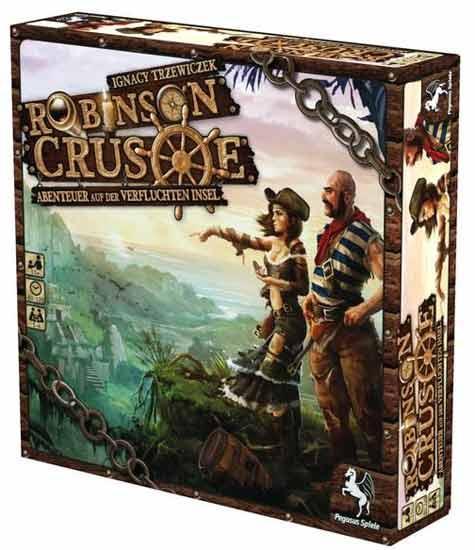 Schachtel des Gesellschaftsspiels Robinson Crusoe - Foto von Pegasus Spiele