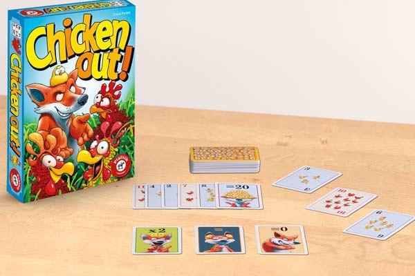 Kinderspiel und Kartenspiel Chicken Out - Foto von Piatnik