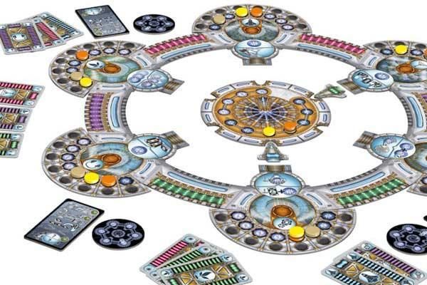 Spielaufbau bei Solaris - Foto von Queen Games