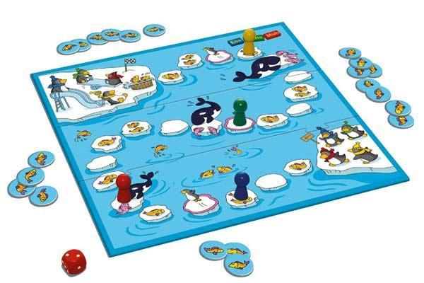 Spielaufbau Lauf, Pinguin! - Foto von Schmidt Spiele
