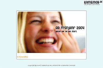 Screenshot von gamemob.de im Februar 2004 von